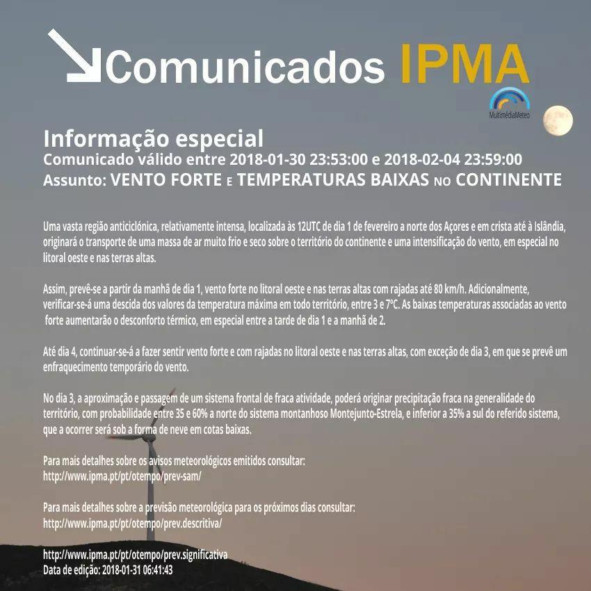 Comunicados IPMA