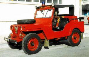 """Willys Overland - Viatura de 1944, foi deliberado adquiri-la por 22.500$00, em Setembro de 1968, tendo sido logo no mês de Novembro pintada por 2.000$00, sendo paga em Junho de 1969. Esteve para ser vendido em Abril de 1992, por deliberação da Direcção, o que felizmente não aconteceu. Serviu até à poucos anos de """"Carro de Comando"""""""